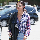 Celebrity Style Selena Gomez Wearing Tiny Denim Shorts