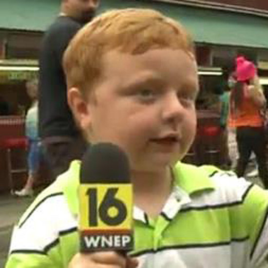 "Noah Ritter Little Boy Newsreader Who Says ""Apparently"" Lots"