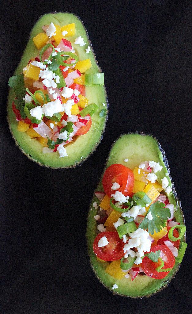 Summer-Salad-Stuffed Avocado