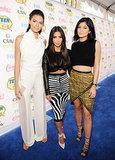 Kendall Jenner, Kim Kardashian, and Kylie Jenner