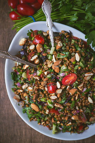 Toasted Wheat Berry Summer Salad