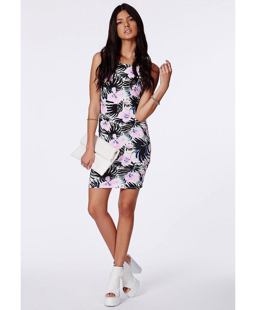 Missguided Floral Print Minidress + ASOS Cardigan