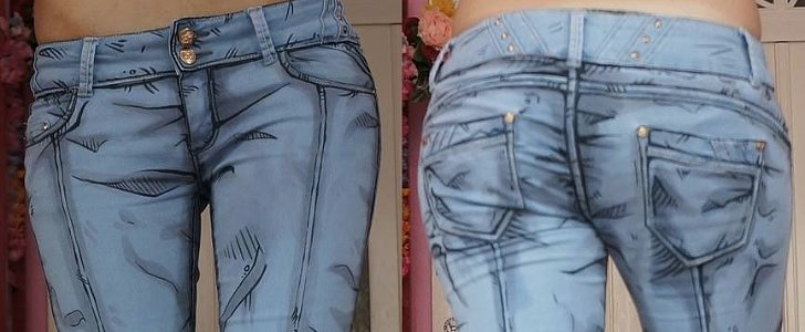 Why Yes, These Comic-Book Jeans Are Real