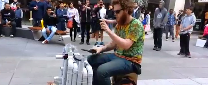 Bet You Never Thought You'd Be in Awe of a Man's PVC-Pipe-Playing Talent