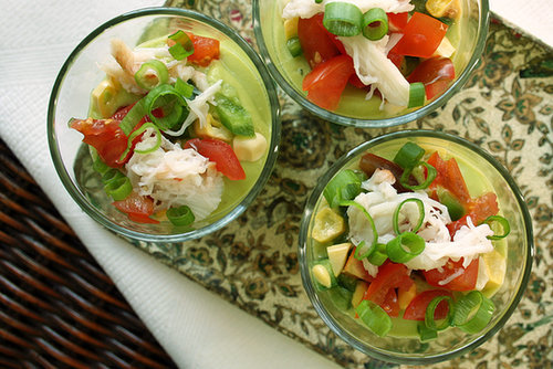 Chilled Avocado and Corn Soup