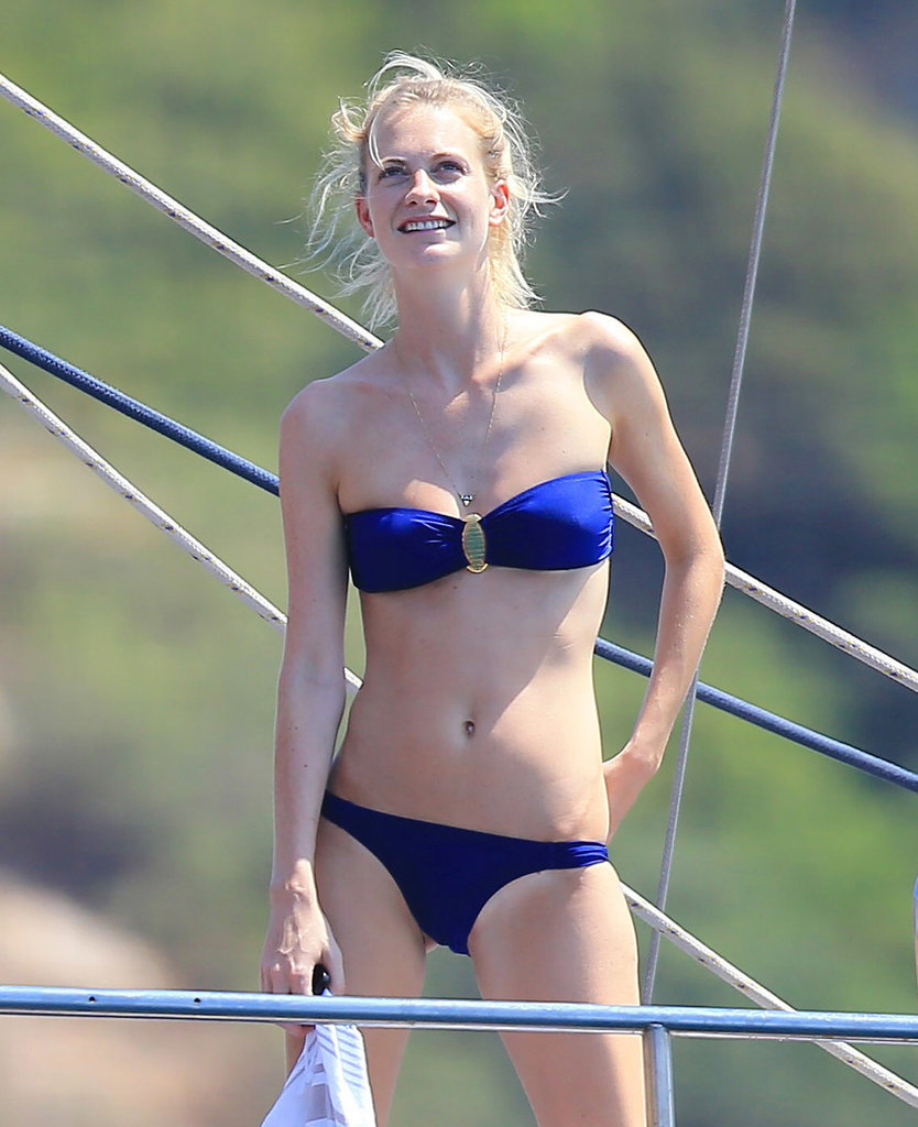 Poppy Delevingne showed off her bikini body in Ibiza on Wednesday.