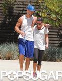 Lea Michele got cute with her boyfriend, Matthew Paetz, after feeding their hiking habit in LA on Wednesday.