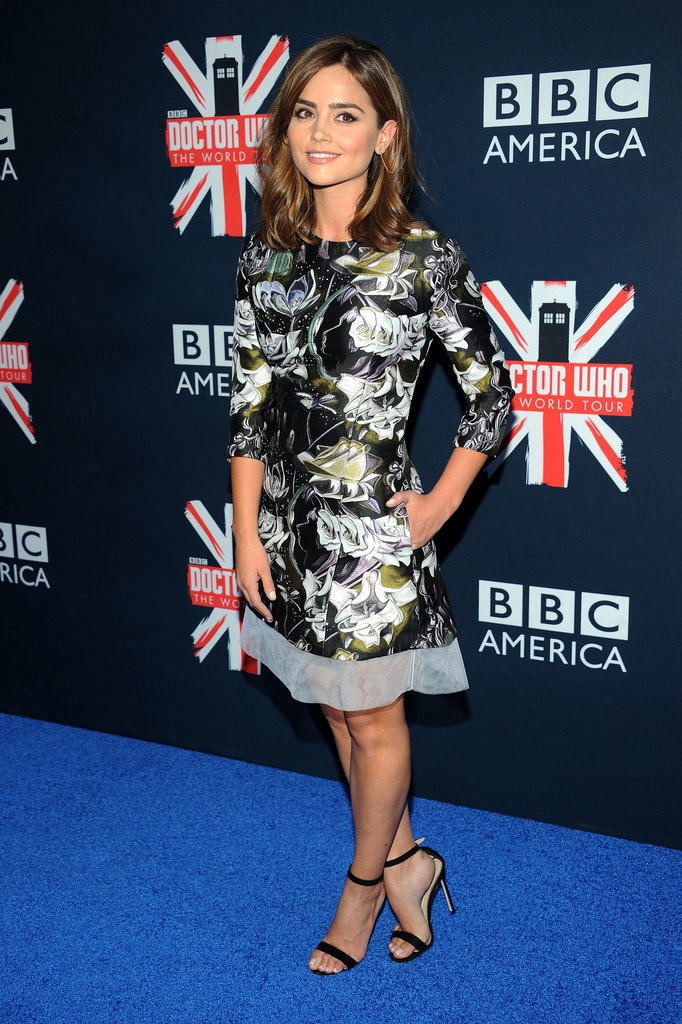 At a fan screening of the first episode of the new series, Jenna was radiant in a floral Dior dress.