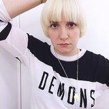 Lena Dunham Peroxide Blonde Hair