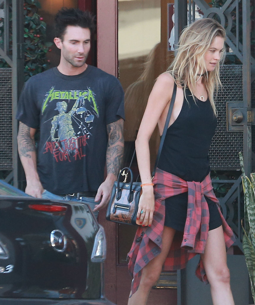 Newlyweds Adam Levine and Behati Prinsloo stepped out in West Hollywood, CA, on Saturday.