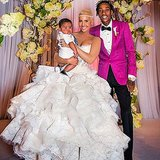 Amber Rose and Wiz Khalifa included their son Sebastian in their wedding snap.   Source: Instagram user muvarosebud