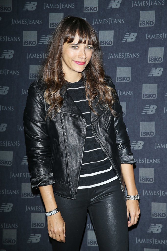 Rashida Jones struck a pose at an event for New Balance and James Jeans in LA on Tuesday.