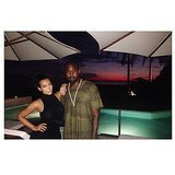 Kim Kardashian posed with Kanye West while on vacation.  Source: Instagram user kimkardashian