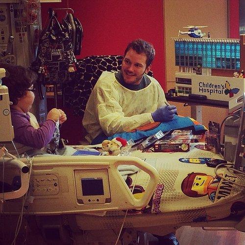 Chris Pratt Visiting Kids in the Hospital