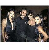 Kendall Jenner, Riccardo Tisci, Kris Jenner, and Kim Kardashian