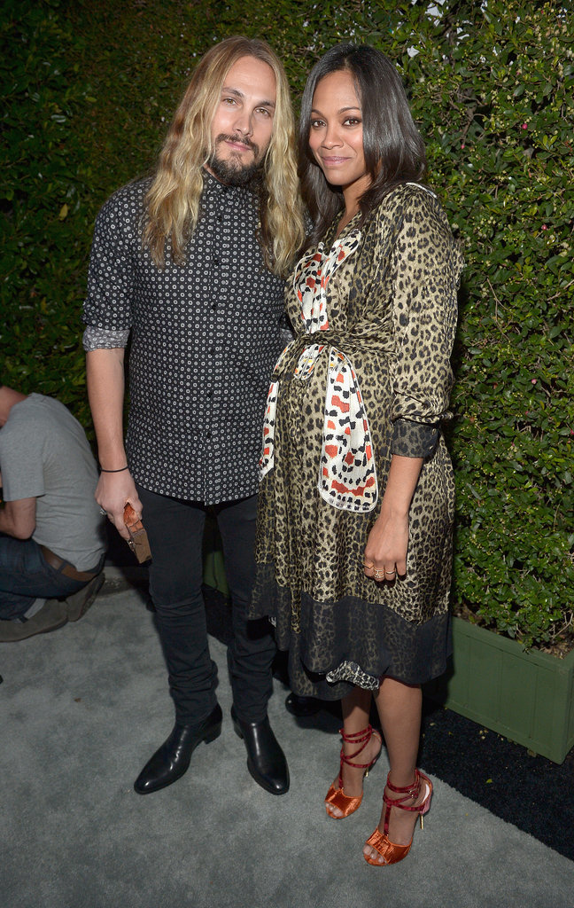 Zoe Saldana and Marco Perego attended Audi's Thursday night bash.