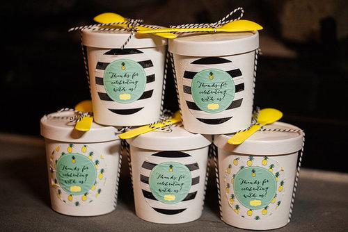 Pineapple-Flavored Ice Cream