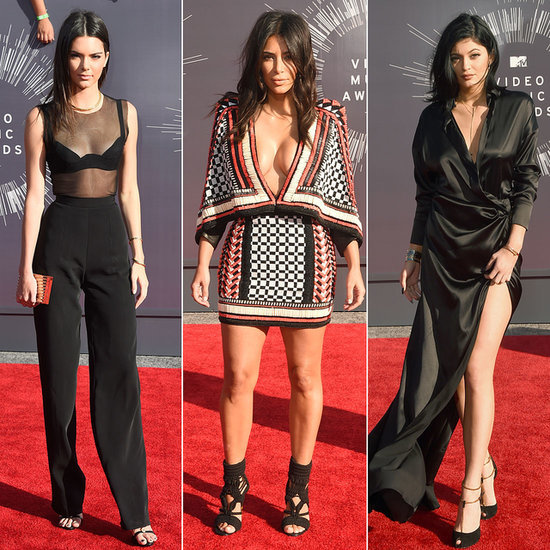 MYV VMAs Kim Kardashian Kendall Jenner Kylie Jenner 2014