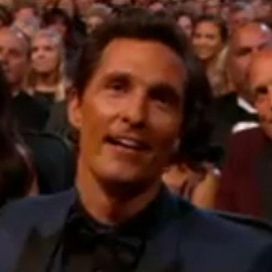 Matthew McConaughey Losing at the Emmys GIF