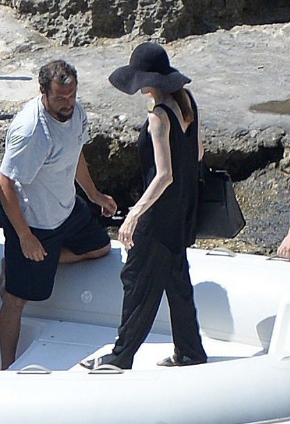 The First Pictures of Angelina Jolie as a Newlywed!