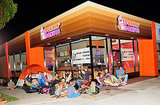 People Camped Out Overnight for Southern California's First Dunkin' Donuts
