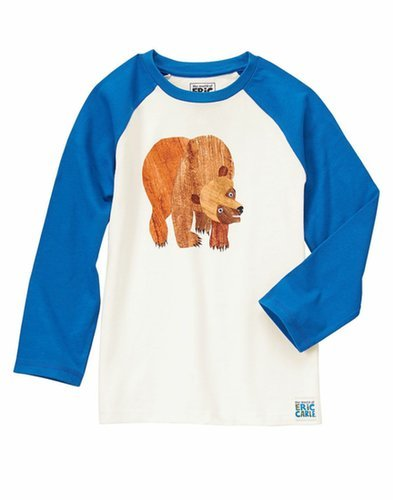This blue-sleeved tee ($22) features the title character from Brown Bear, Brown Bear, What Do You See? on its front.