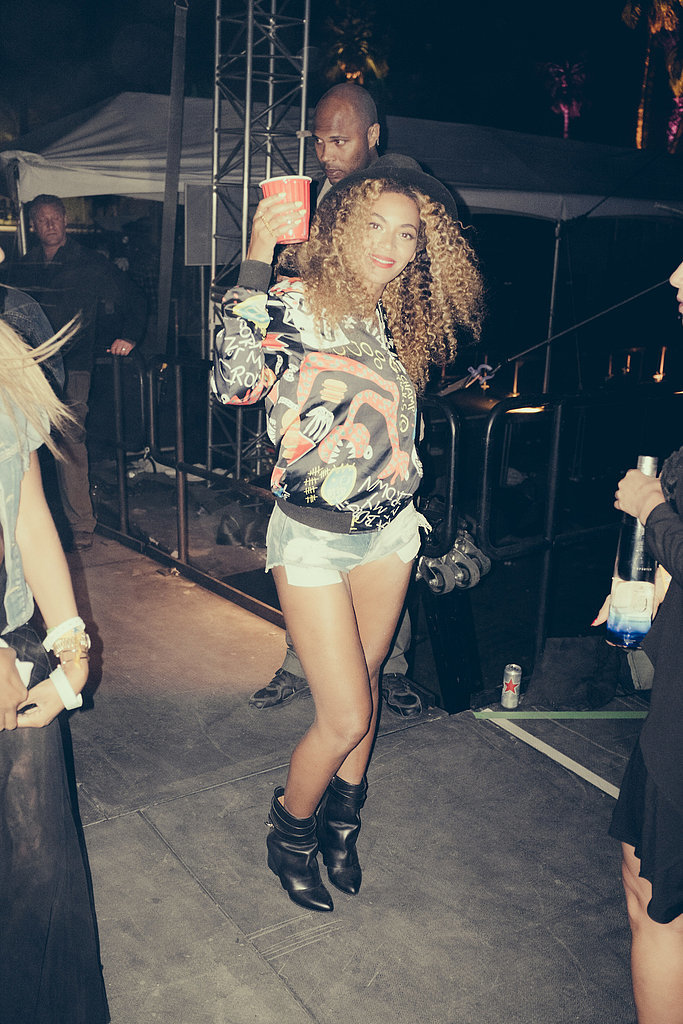 Beyoncé partied backstage at Coachella in April 2014. Source: Tumblr user Beyoncé