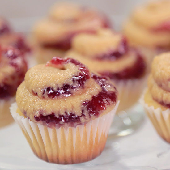 Peanut Butter and Jelly Cupcakes — No Crusts Included