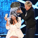 Kim Kardashian Doesn't Look Too Happy About Her Ice Bucket Challenge