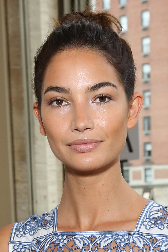 Lily Aldridge at Tory Burch
