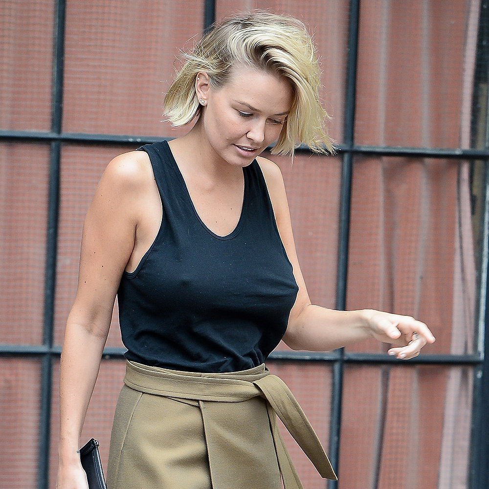 Lara Bingle Bra-Less Outfit Pictures in New York ...