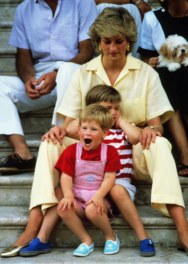Harry's screaming got on William's nerves when the family took a trip to Spain in 1987.