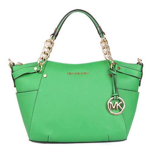 $190.00 MICHAEL BY MICHAEL KORS CHAIN HANDLE TOTE GREEN