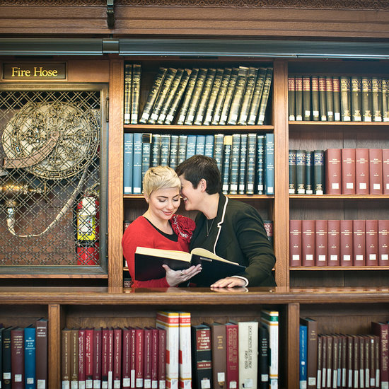 Amie and Jackie's New York Public Library Engagement