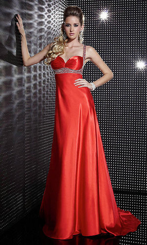 Floor Length Red Prom Dress