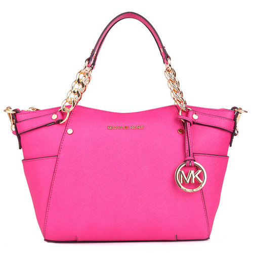 $190.00 MICHAEL BY MICHAEL KORS CHAIN HANDLE TOTE PINK