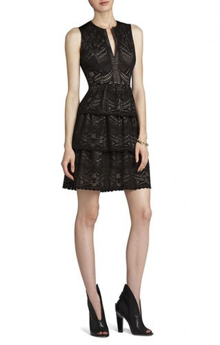 $177.00 BCBG SCARLETT TIERED EYELET DRESS