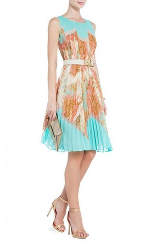 $178.00 BCBGMAXAZRIA KSENIA PRINTED A-LINE DRESS