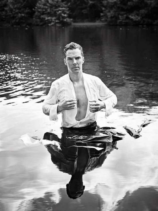 Benedict Cumberbatch In Wet Shirt For TK Maxx Campaign