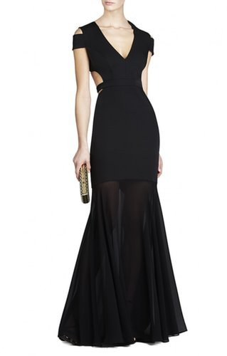 $178.00 BCBG AVA CUTOUT GOWN BLACK