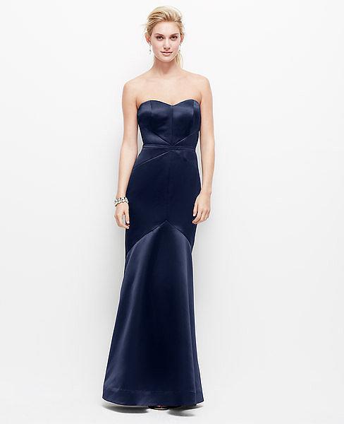 Ann Taylor Satin Strapless Dress | POPSUGAR Fashion