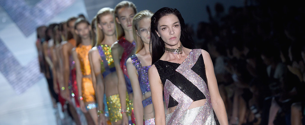 Donatella Versace's Sparkling Runway Shines Bright Like a Diamond