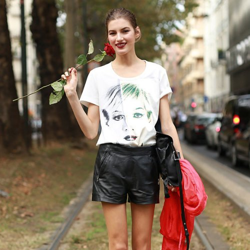 Model Street Style at Fashion Week Spring 2015