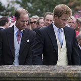 Prince William and Prince Harry at Victoria Inskip's Wedding