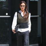 Victoria Beckham's Louis Vuitton Vest Street Style