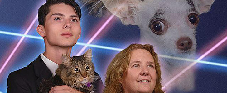 Principal Joins Teen and His Laser Cat For Epic Yearbook Photo
