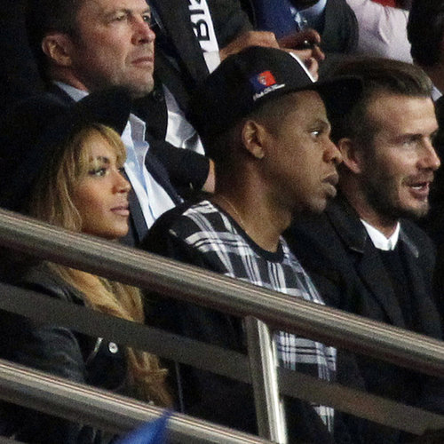 Beyonce, Jay Z, and David Beckham at a Soccer Game Together