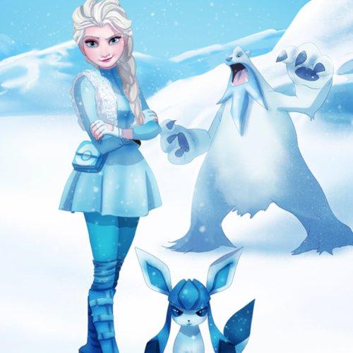 Frozen Pokemon Illustration