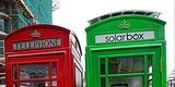 London Phone Booth Converted To Solar-Powered Mobile Charging Station
