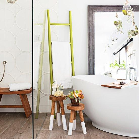Tiffani thiessen popsugar celebrity for How to create a spa like bathroom